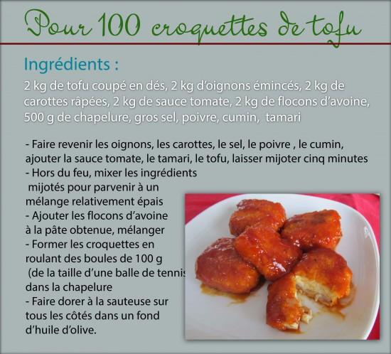croquettes tofu