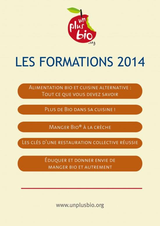 En 2014 un plus bio propose une s rie de formations adapt es un plus bio premier r seau - Formation de cuisine collective ...