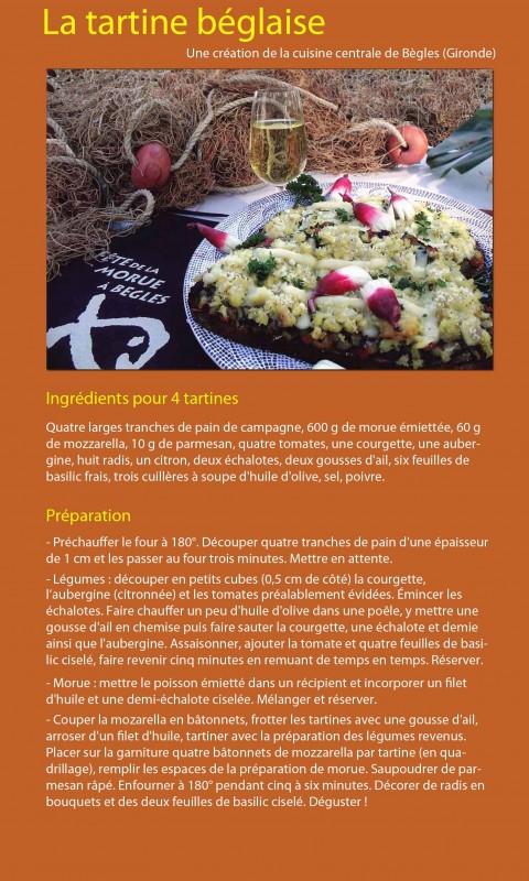 Un Plus Bio recette tartine béglaise morue