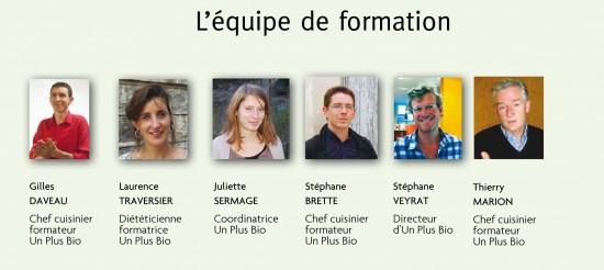 Formateurs Un Plus Bio 2015-2