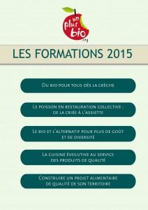 Formations Un Plus Bio 2015