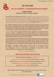 Communiqué Un Plus Bio Drôme 8 juin 2015