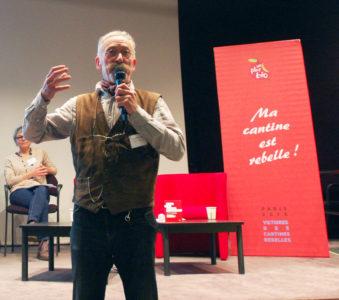 Arnaud Daguin, le 10 novembre 2016 à Paris, aux Victoires des cantines rebelles.