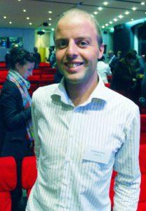 Guillaume Bodin, le réalisateur, aux Victoires des cantines rebelles à Paris en novembre 2016.