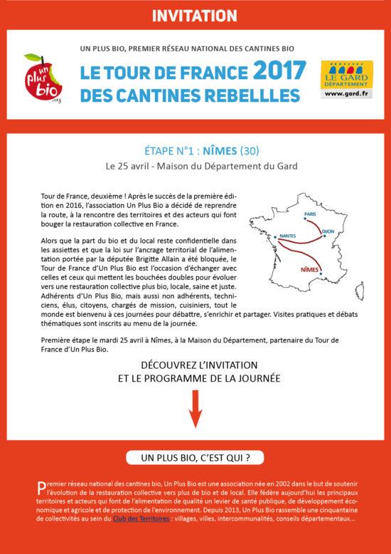 Tour de France des cantines rebelles Nîmes